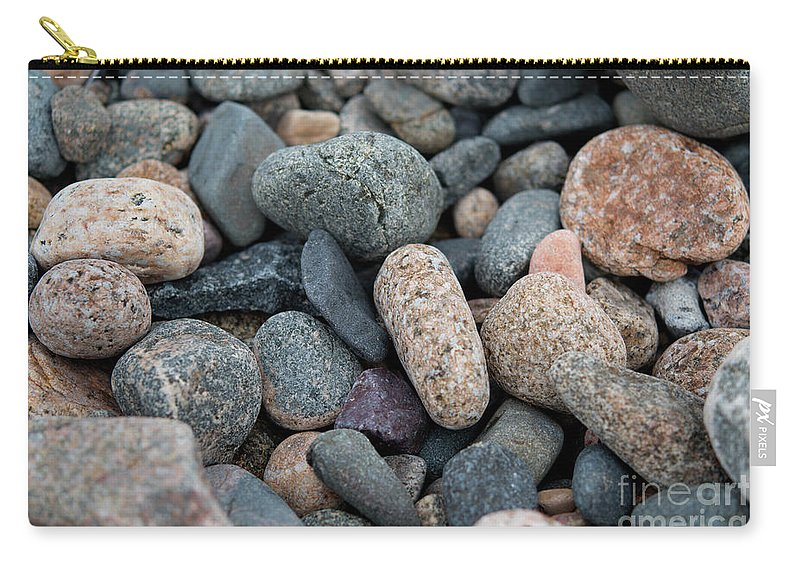 Stone Carry-all Pouch featuring the photograph Beach Of Stones by Michelle Himes