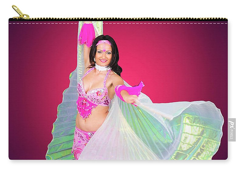 Art Carry-all Pouch featuring the photograph Belly Dancer by Ilan Rosen