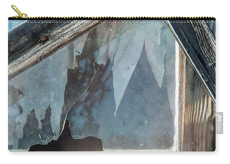 Window Carry-all Pouch featuring the photograph Belmont Window And Screen 1627 by Bob Neiman