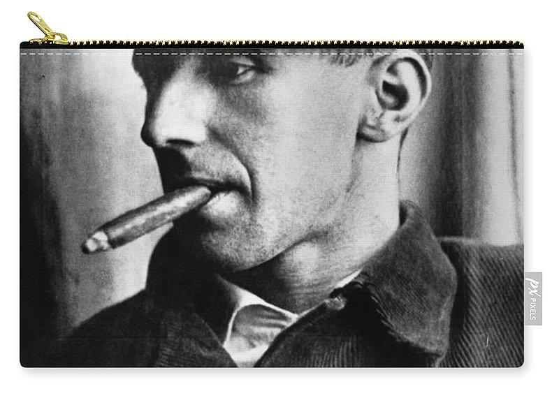 1935 Carry-all Pouch featuring the photograph Bertolt Brecht (1898-1956) by Granger