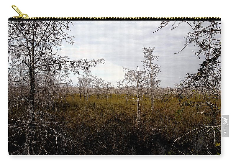 Big Cypress National Preserve Carry-all Pouch featuring the painting Big Cypress by David Lee Thompson