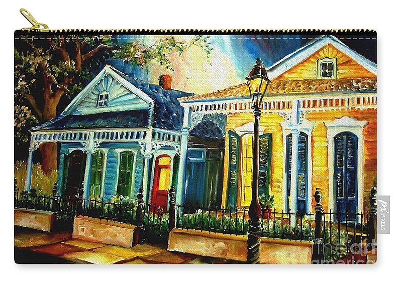 New Orleans Carry-all Pouch featuring the painting Big Easy Neighborhood by Diane Millsap