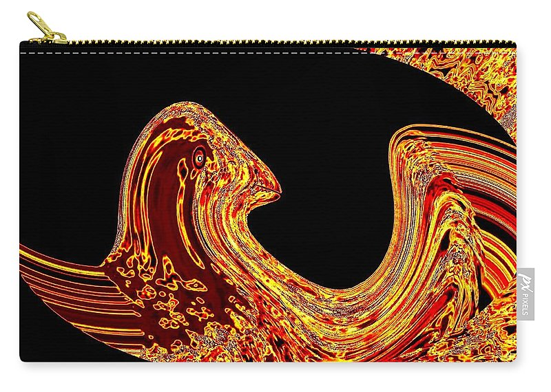 Golden Eagle Carry-all Pouch featuring the digital art Birth Of A Golden Eagle by Will Borden