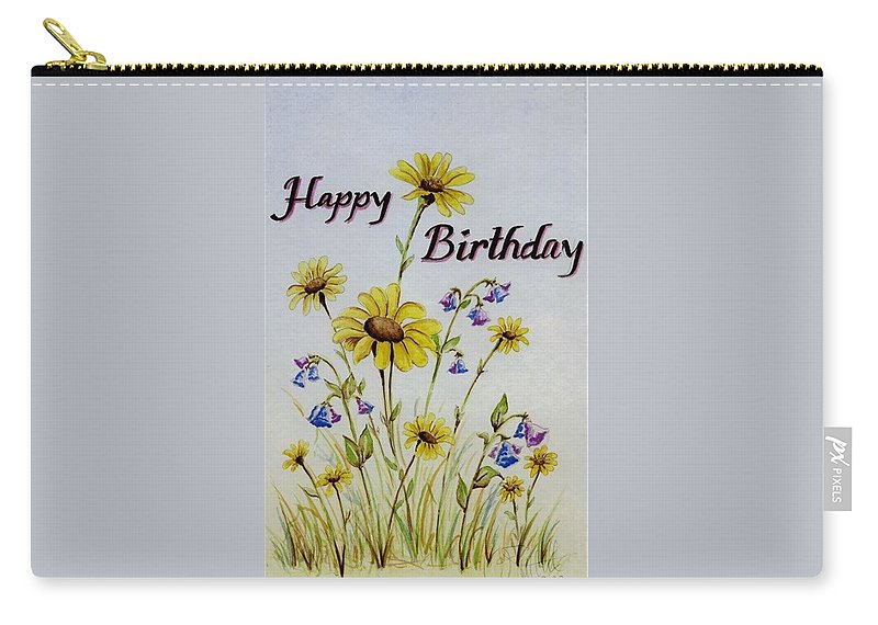 Card Carry-all Pouch featuring the painting Birthday Card by Jimmy Smith