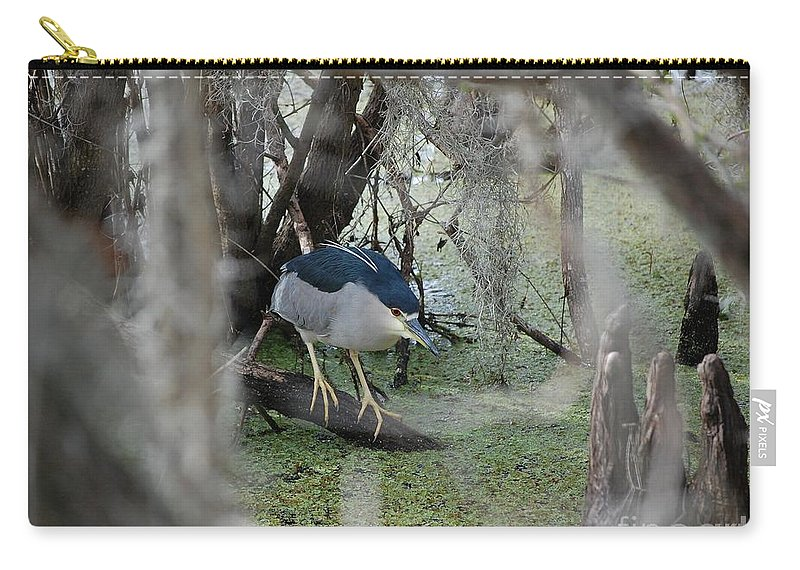 Heron Carry-all Pouch featuring the photograph Black Crowned Night Heron by Robert Meanor