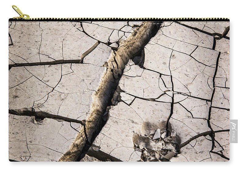 Cracked Carry-all Pouch featuring the photograph Blair Cracked Mud 1685 by Bob Neiman
