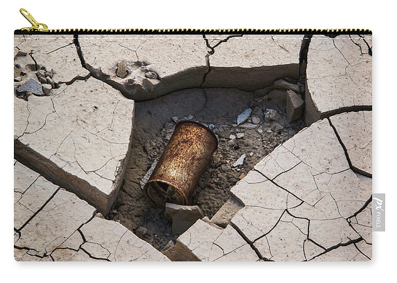 Cracked Carry-all Pouch featuring the photograph Blair Cracked Mud 1695 by Bob Neiman
