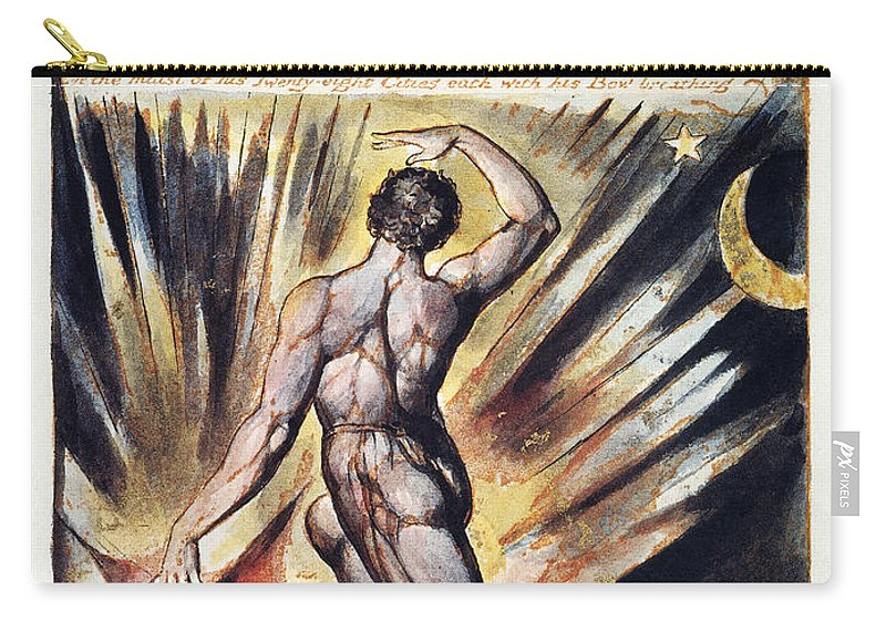1804 Carry-all Pouch featuring the photograph Blake: Jerusalem, 1804 by Granger