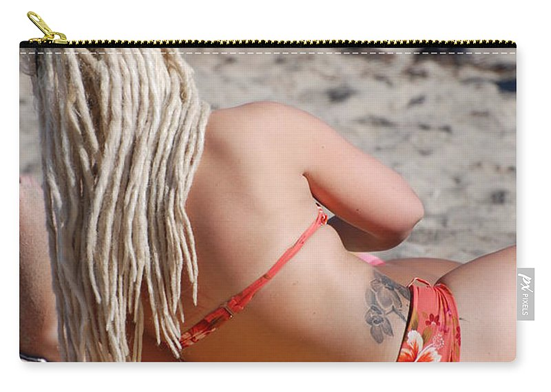 Girls Carry-all Pouch featuring the photograph Blondie Braids by Rob Hans