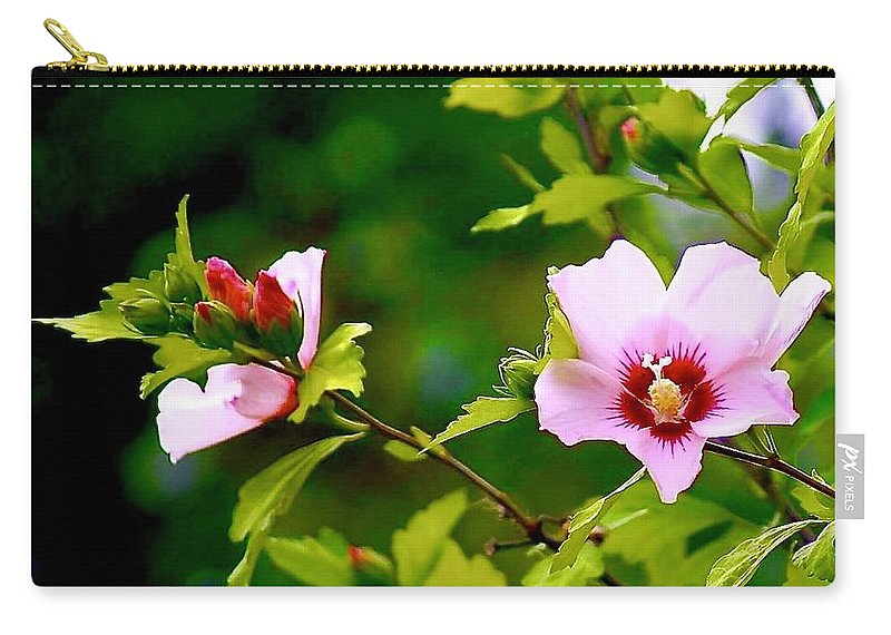 Flowers Carry-all Pouch featuring the photograph Blooming by Linda Cupps