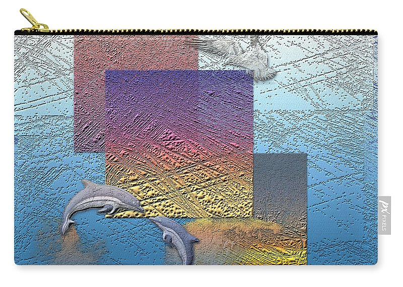 �from Dusk Till Dawn� Collection By Serge Averbukh Carry-all Pouch featuring the photograph Blue Lagoon Sunrise by Serge Averbukh