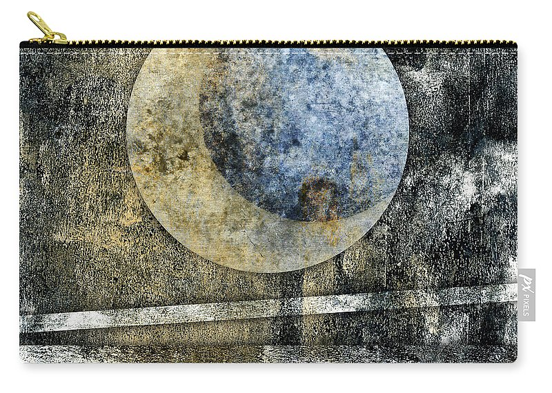 Blue Carry-all Pouch featuring the photograph Blue Moon by Carol Leigh