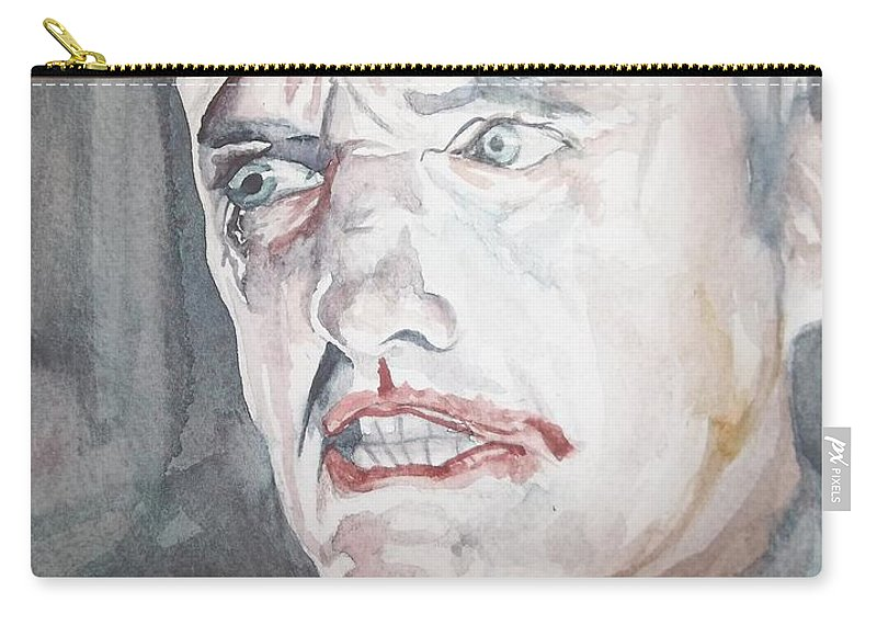Blue Velvet Carry-all Pouch featuring the painting Blue Velvet by Mark Benton