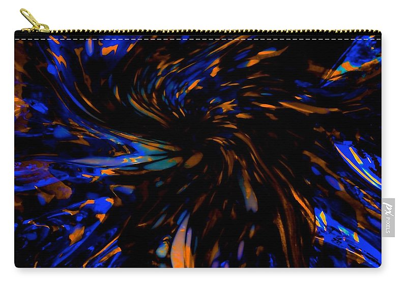 Abstract Carry-all Pouch featuring the photograph Blue Wormhole Nebula by Tim G Ross