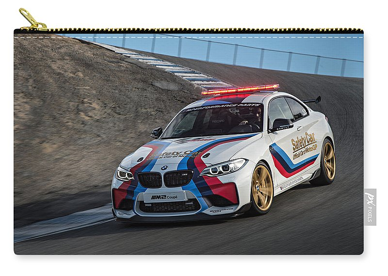 Bmw M2 Coupe Carry-all Pouch featuring the photograph Bmw M2 Coupe by Jackie Russo