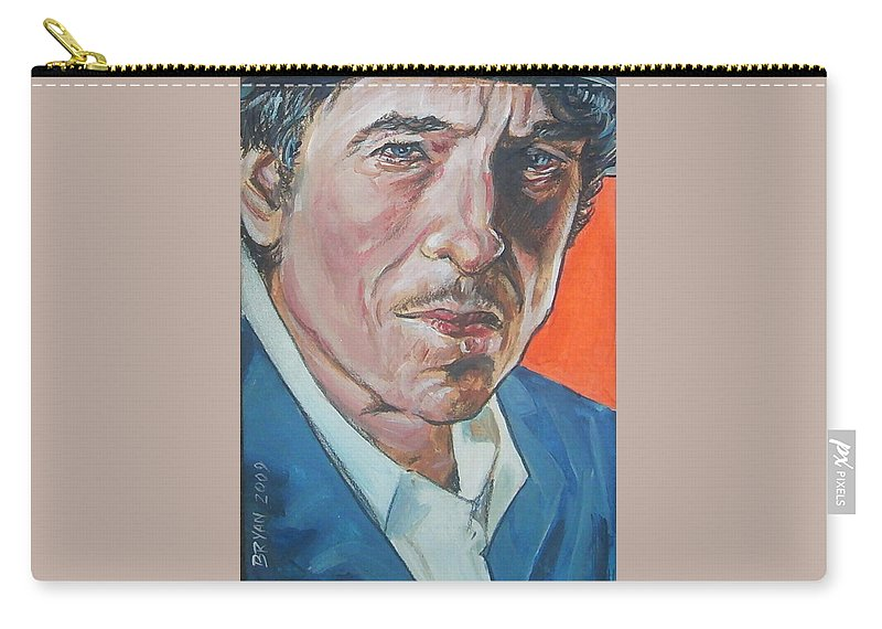 Bob Dylan Carry-all Pouch featuring the painting Bob Dylan by Bryan Bustard