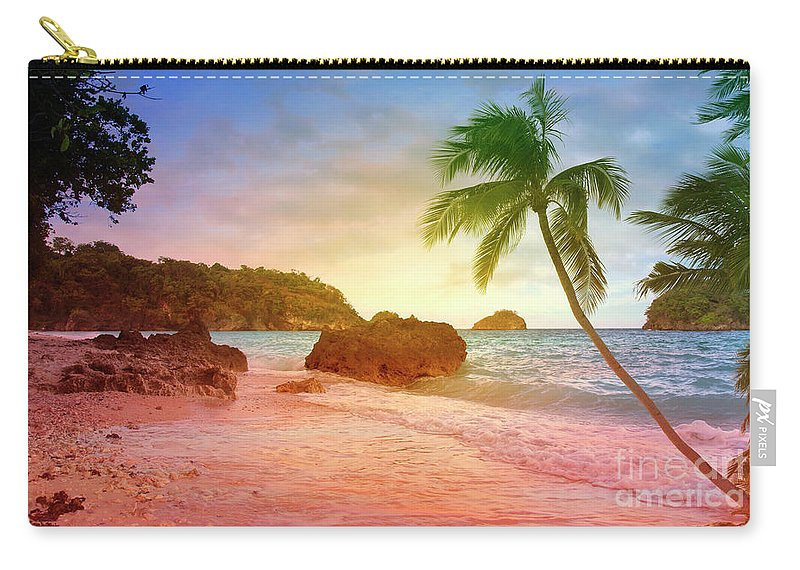 Enjoy Carry-all Pouch featuring the digital art Boracay Philippians by Mark Ashkenazi