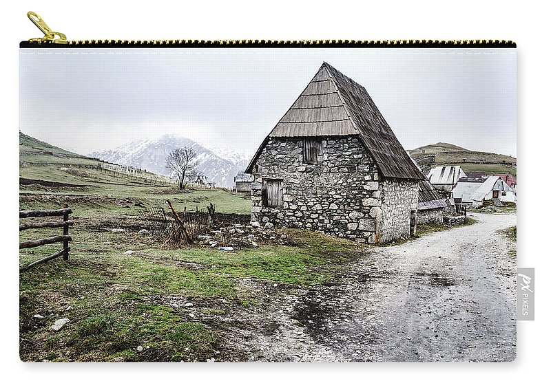 Balkans Carry-all Pouch featuring the photograph Bosnian Village In The Mountains by Alexey Stiop