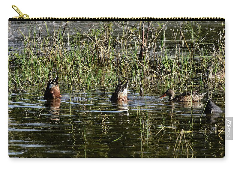 Bottoms Carry-all Pouch featuring the photograph Bottoms Up by Dwight Eddington