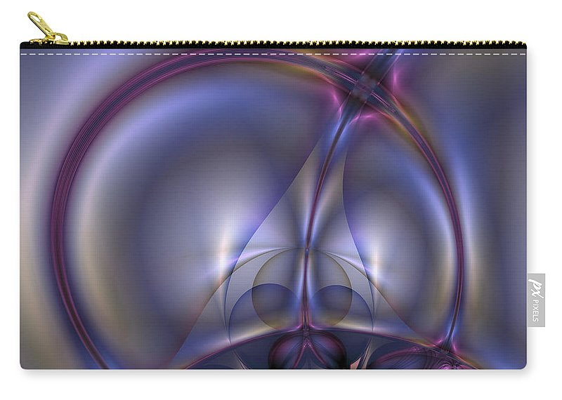 Abstract Carry-all Pouch featuring the digital art Bound By Light by Casey Kotas