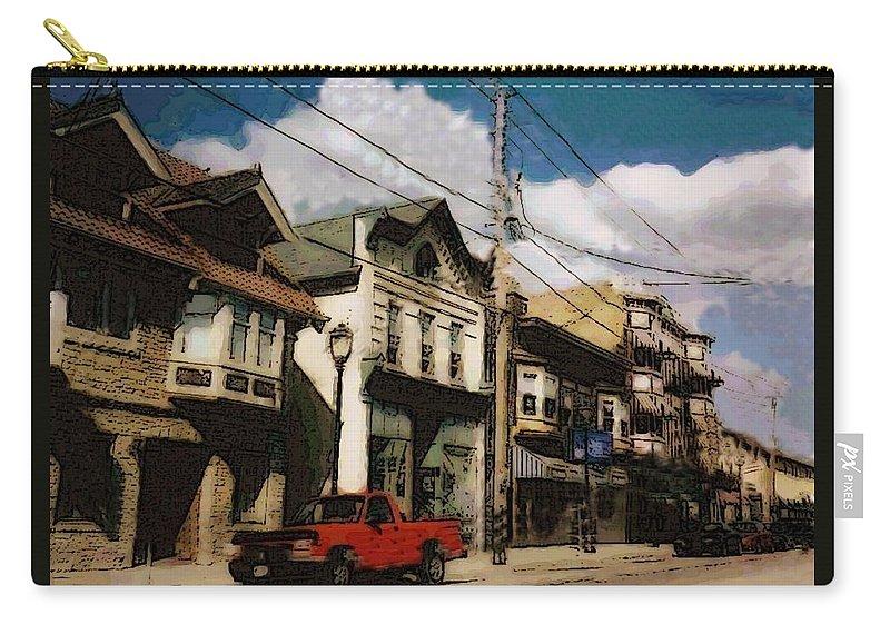 Brady Street Carry-all Pouch featuring the photograph Brady Street Scene by Anita Burgermeister