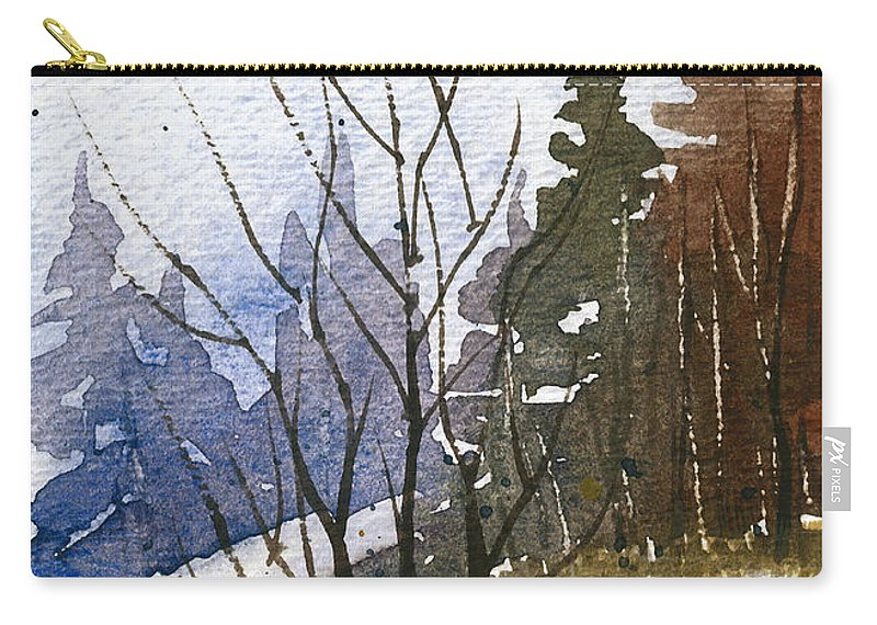 Snow Carry-all Pouch featuring the painting Branches by Tonya Doughty