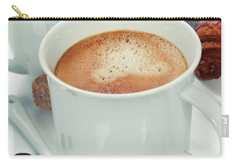 Magazine Carry-all Pouch featuring the photograph Breakfast by Natalia Klenova