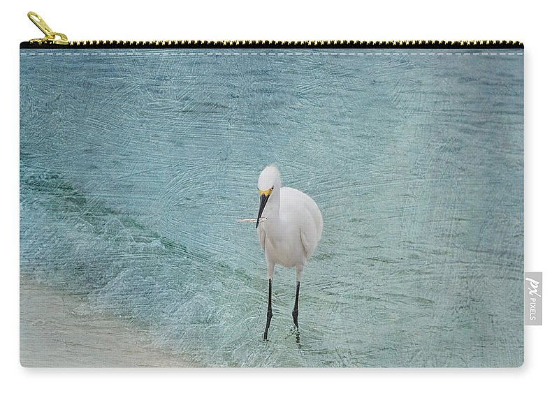 Egret Carry-all Pouch featuring the photograph Breakfast Time by Kim Hojnacki