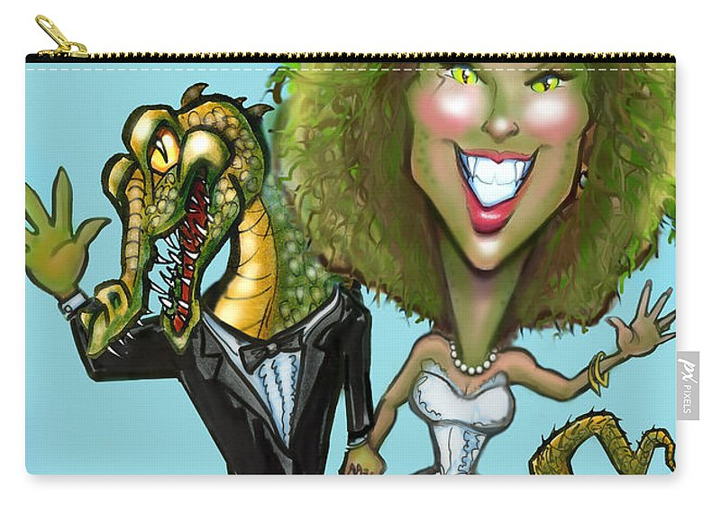 Bridezilla Carry-all Pouch featuring the greeting card Bridezilla by Kevin Middleton