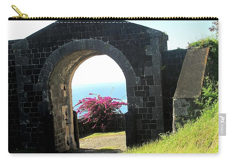 Fort Carry-all Pouch featuring the photograph Brimstone Gate by Ian MacDonald