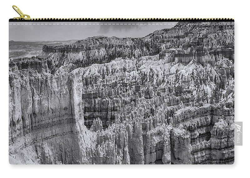 Arizona; Arizona Canyon; Canyon; United States; Usa; Southwest; Clouds; America; American; Beauty; Black; Deep; Desert; Environment; Erosion; Formation; Geology; Grand; Carry-all Pouch featuring the photograph Brycecanyon 4 by Ingrid Smith-Johnsen