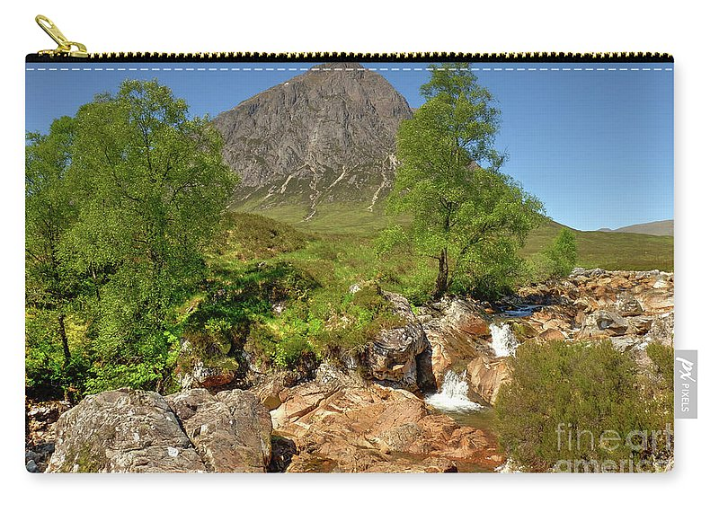 Scotland Carry-all Pouch featuring the photograph Buachaille Etive Mor Glencoe Scotland by Alba Photography