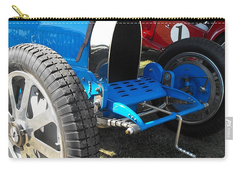 Bugatti Carry-all Pouch featuring the photograph Bugatti Racer by Neil Zimmerman