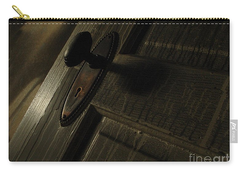 Ghostly Carry-all Pouch featuring the photograph Burned Knob 02 by Peter Piatt