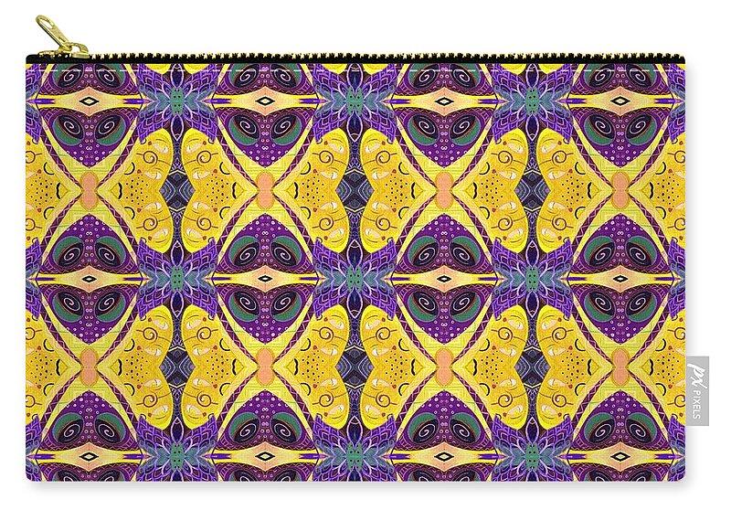 Butterflies Carry-all Pouch featuring the digital art Butterflies 1 by Helena Tiainen