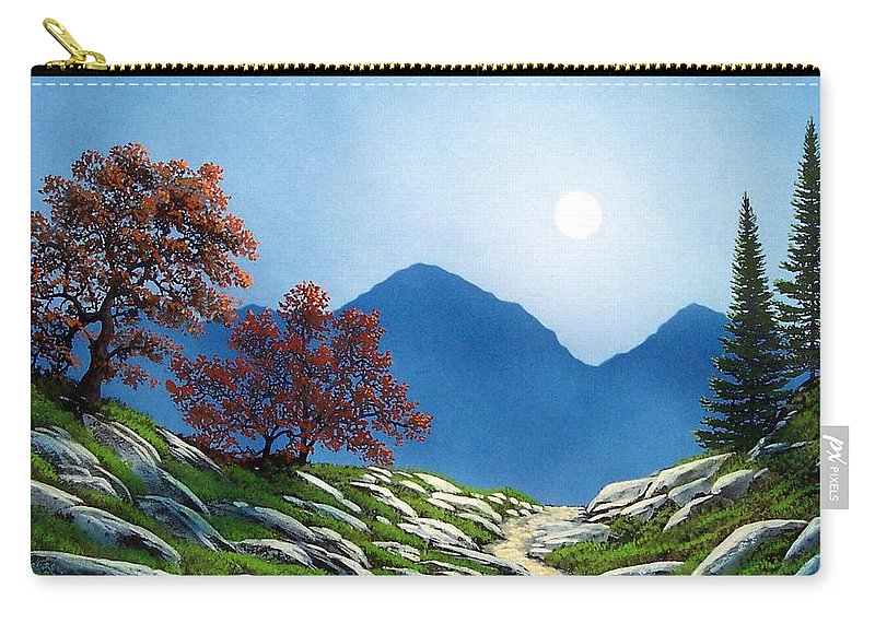Landscape Carry-all Pouch featuring the painting By The Light Of The Moon by Frank Wilson