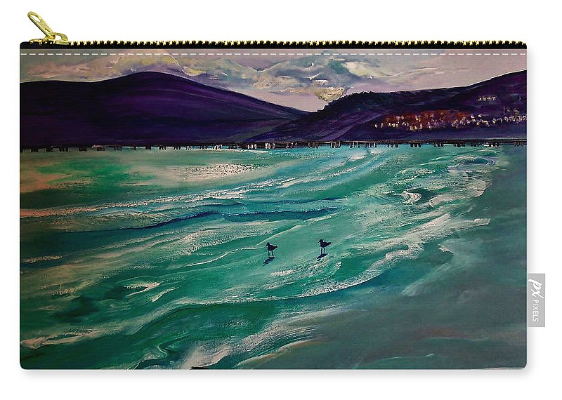 Signed Print By Jan Moore Carry-all Pouch featuring the painting By The Sea by Jan Moore