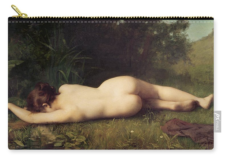 Byblis Carry-all Pouch featuring the painting Byblis Turning Into A Spring by Jean-Jacques Henner