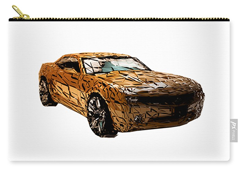 Camaro Carry-all Pouch featuring the digital art Camaro by Hannah Dori