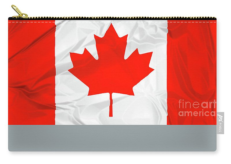 Canada Carry-all Pouch featuring the photograph Canada National Flag by Benny Marty