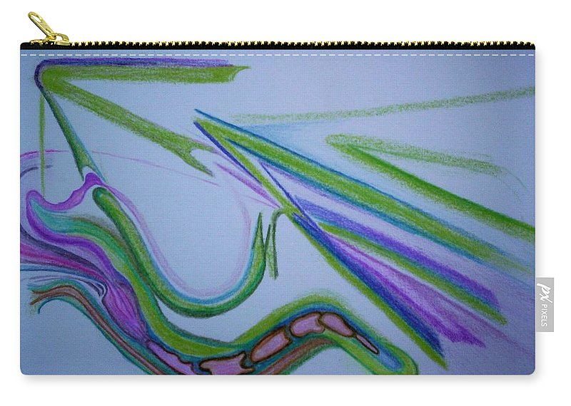 Abstract Carry-all Pouch featuring the drawing Canal by Suzanne Udell Levinger