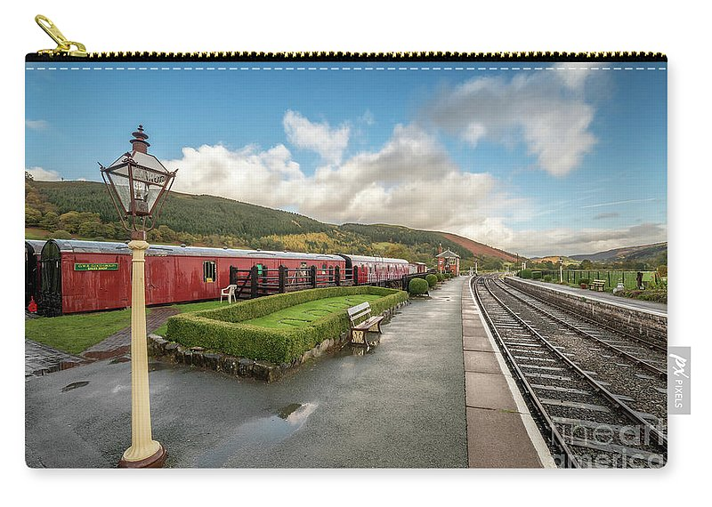 Rail Carry-all Pouch featuring the photograph Carrog Railway Station by Adrian Evans
