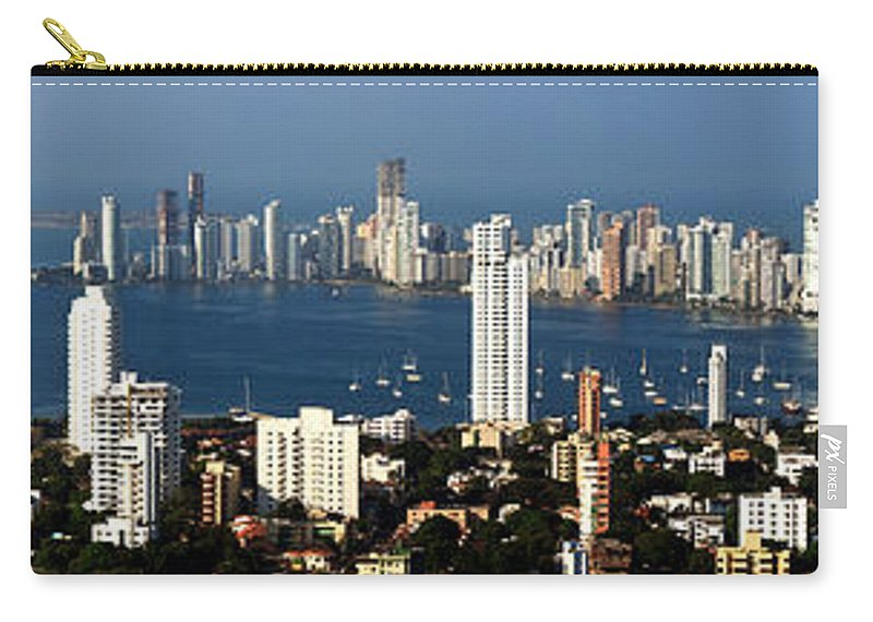 Cartwegena Carry-all Pouch featuring the photograph Cartegena Colombia by Thomas Marchessault