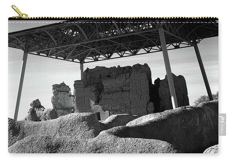 Abandoned Carry-all Pouch featuring the photograph Casa Grande Ruins by Paul Moore