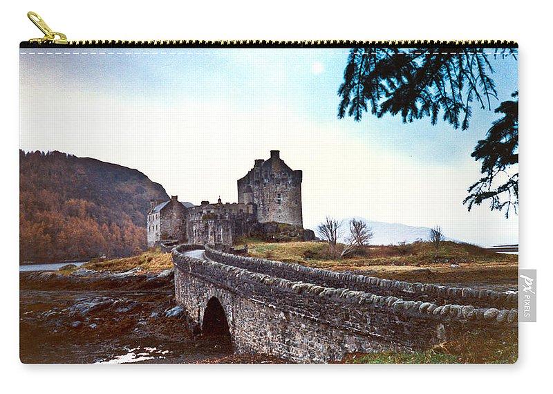 Castle Carry-all Pouch featuring the photograph Castle Eilean Scotland by Douglas Barnett