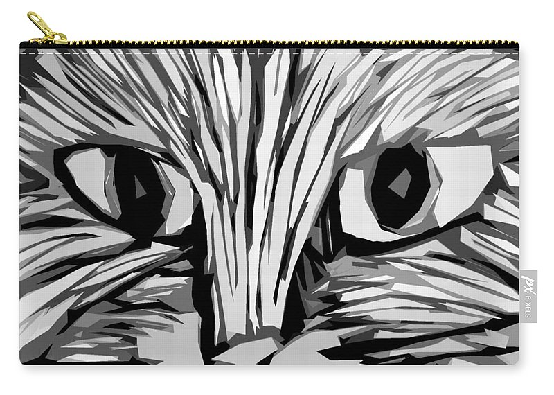 Cats Carry-all Pouch featuring the digital art Cat by Michelle Calkins
