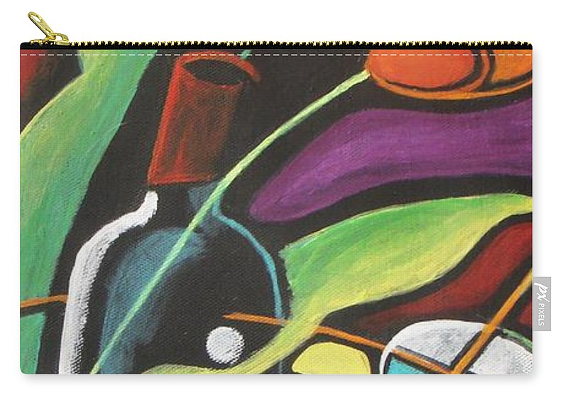 Vine Carry-all Pouch featuring the painting Celebration by Vesna Antic