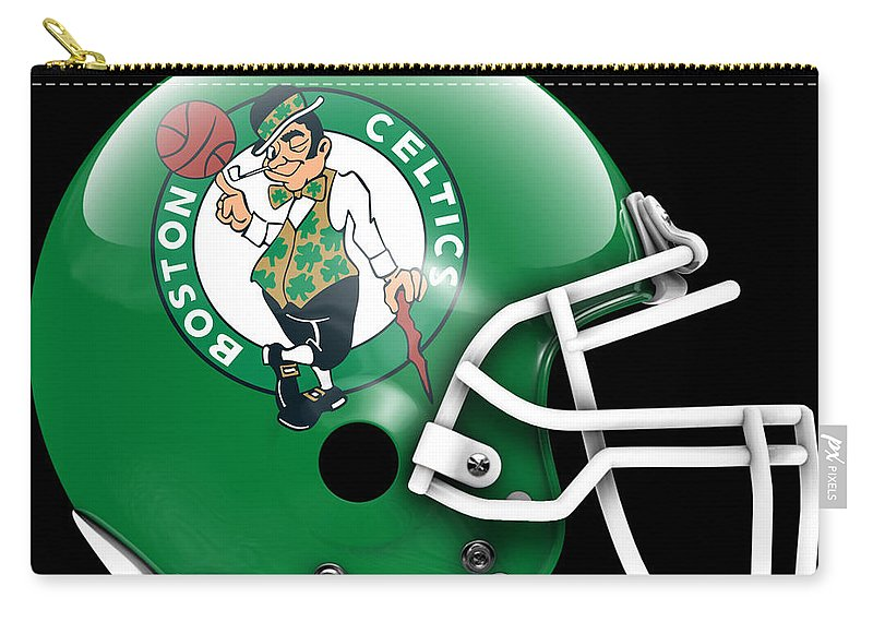 Celtica Carry-all Pouch featuring the painting Celtics What If Its Football 1 by Joe Hamilton