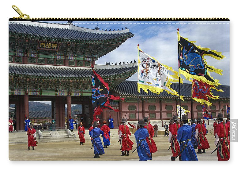 South Korea Carry-all Pouch featuring the photograph Changing Of The Guard by Michele Burgess