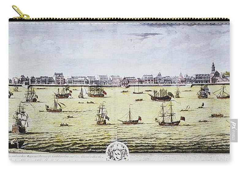 1739 Carry-all Pouch featuring the photograph Charleston, S.c., 1739 by Granger